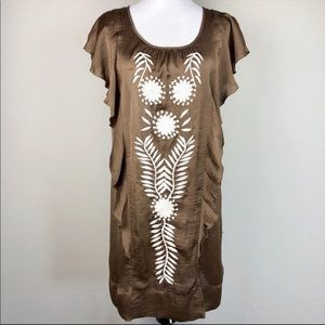 Anthro Uncle Frank Tunic Dress with embroidery